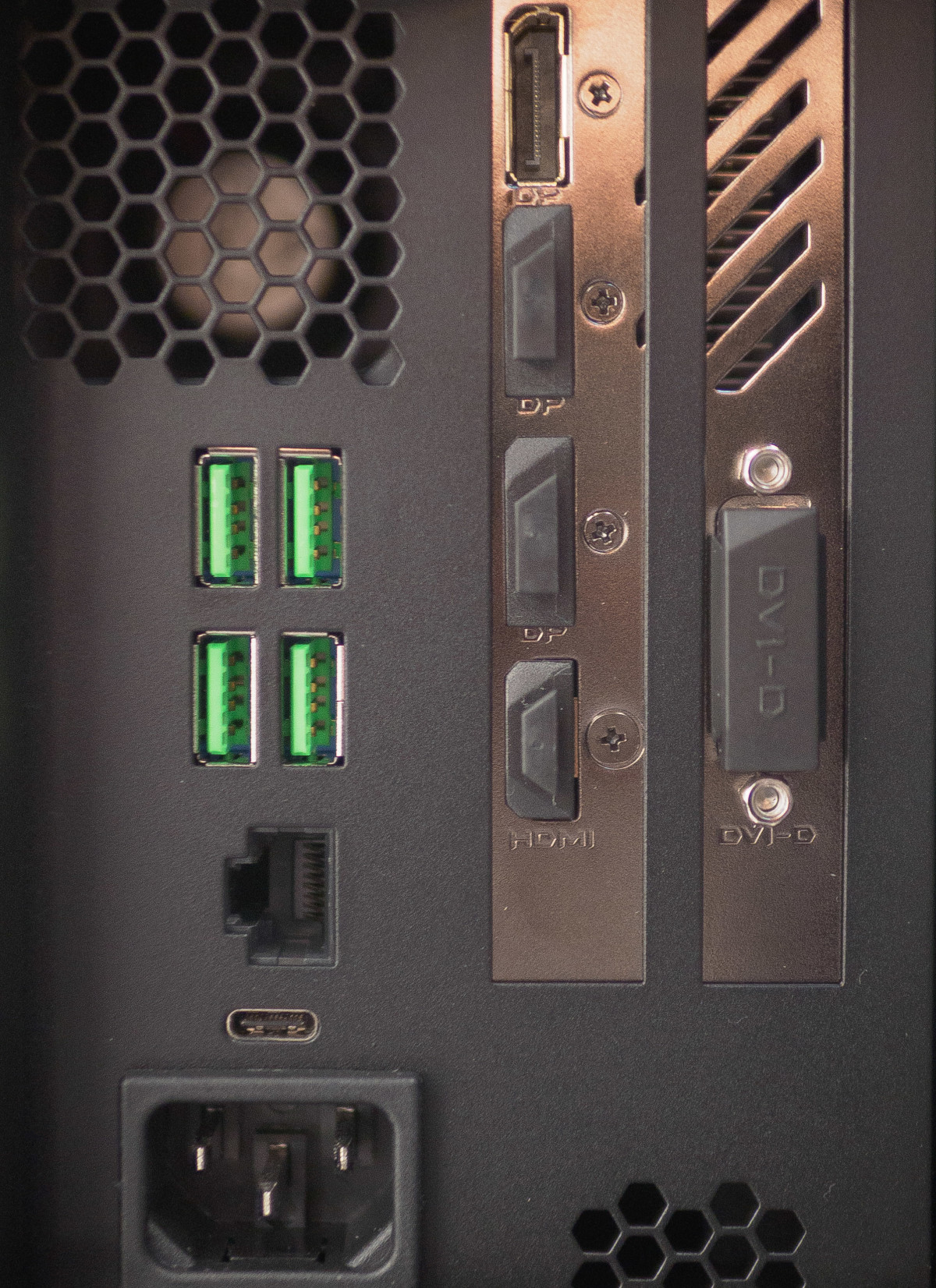 The back of the Razer Core graphics dock
