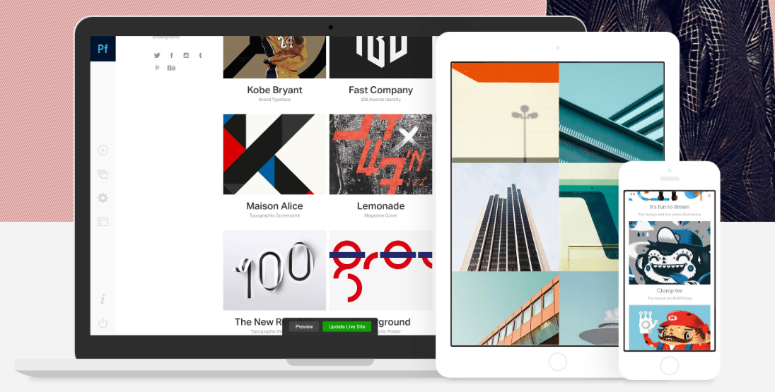Adobe Portfolio takes dead aim at Wix and Squarespace for quick and easy websites