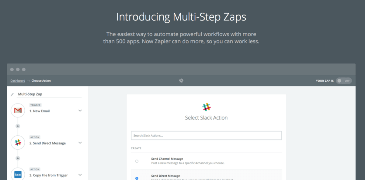 Zapier can now handle your most complex tasks with multi-step Zaps