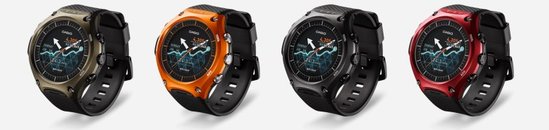 The handsome Casio WSD-F10 comes in a range of colors