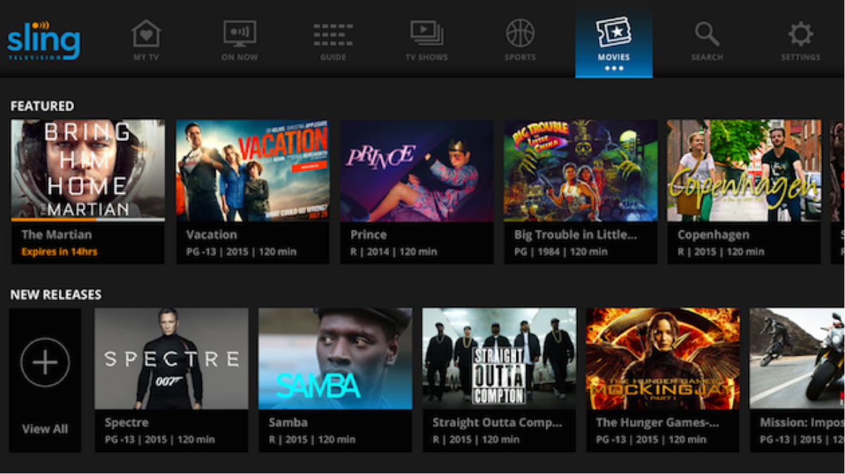 Sling TV's updated UI features personalization tools based on your viewing habits