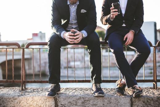 millennials guys relaxed