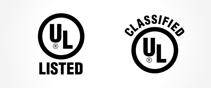 The UL mark that's added to officially certified products