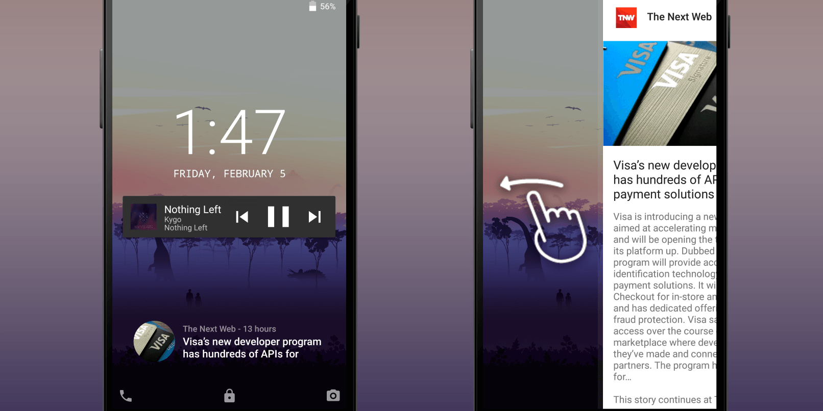 This Android app is a simple and useful way to get news on your lock screen
