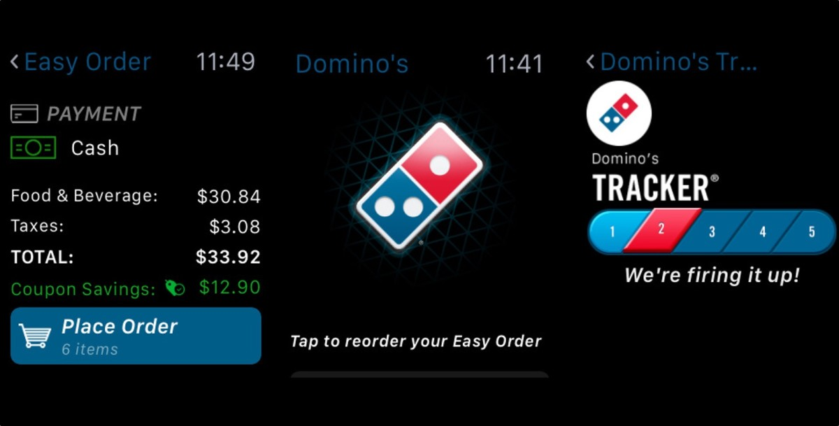 Fat kids rejoice! We can now order Domino's from an Apple Watch