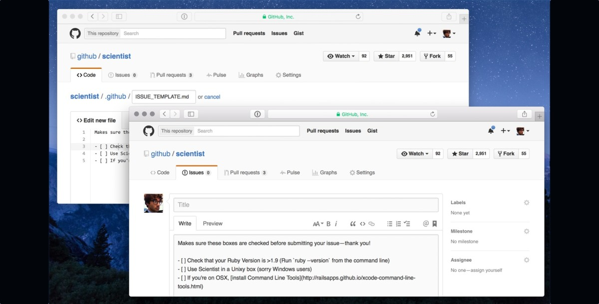 Github Adds Templates For Pull Requests And Issues To Help Push