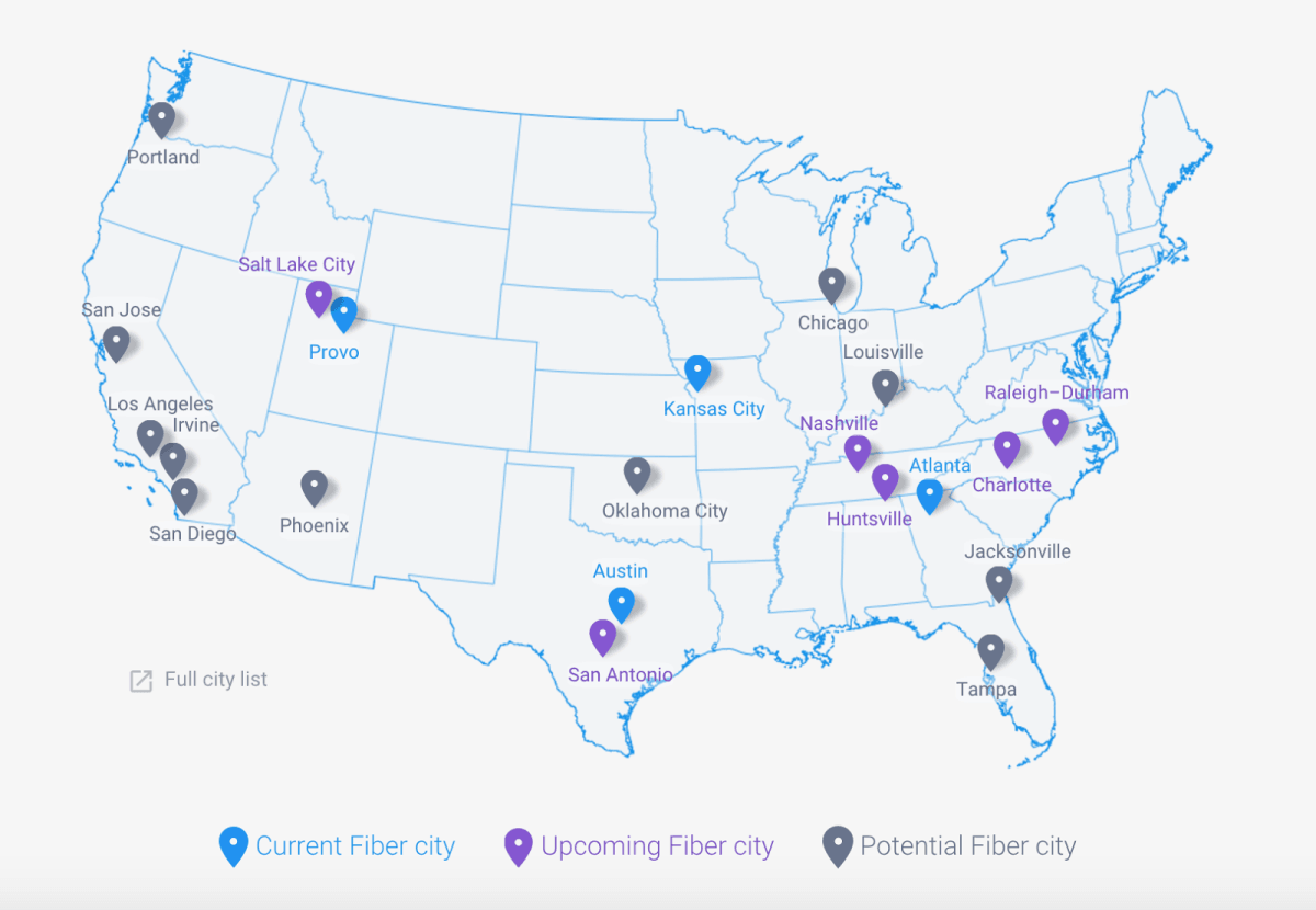 Rocket City will be the first in the US to build a new Google Fiber network from scratch
