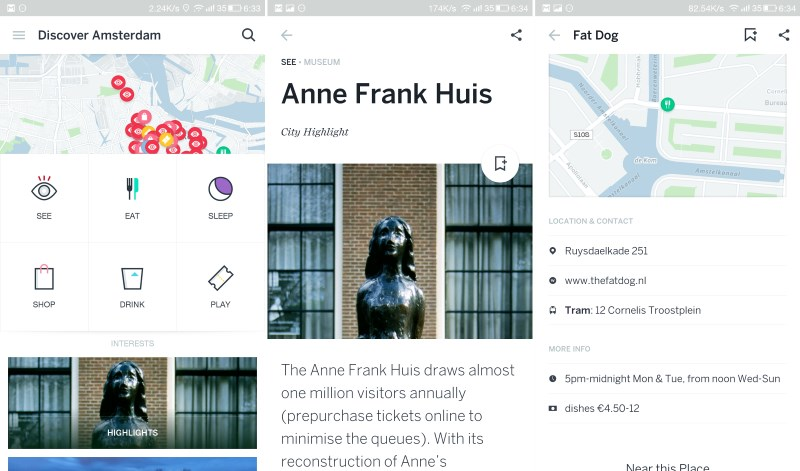 Guides helps you navigate major cities while you travel with offline maps and info