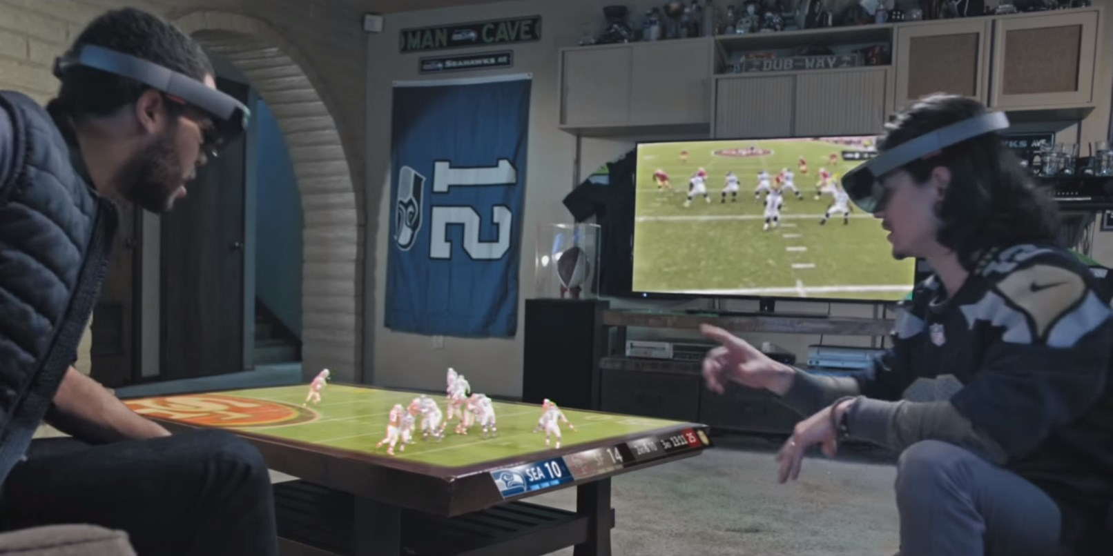 How Microsoft imagines you'll watch football games with HoloLens