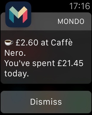 My Apple Watch taps my wrist as any transaction is approved, and before cash has even left the ATM.