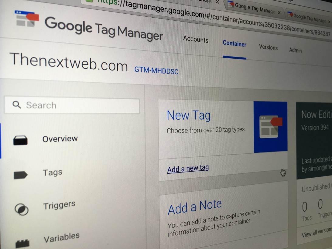 The Next Web Google Tag Manager