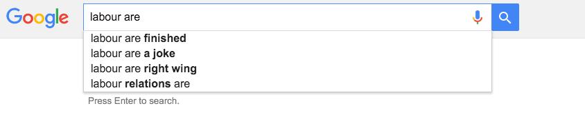Labour Google search