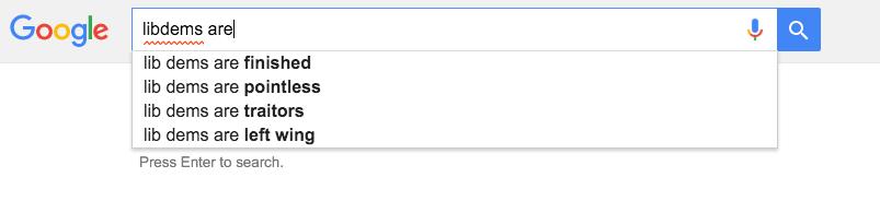 Libdems Google search