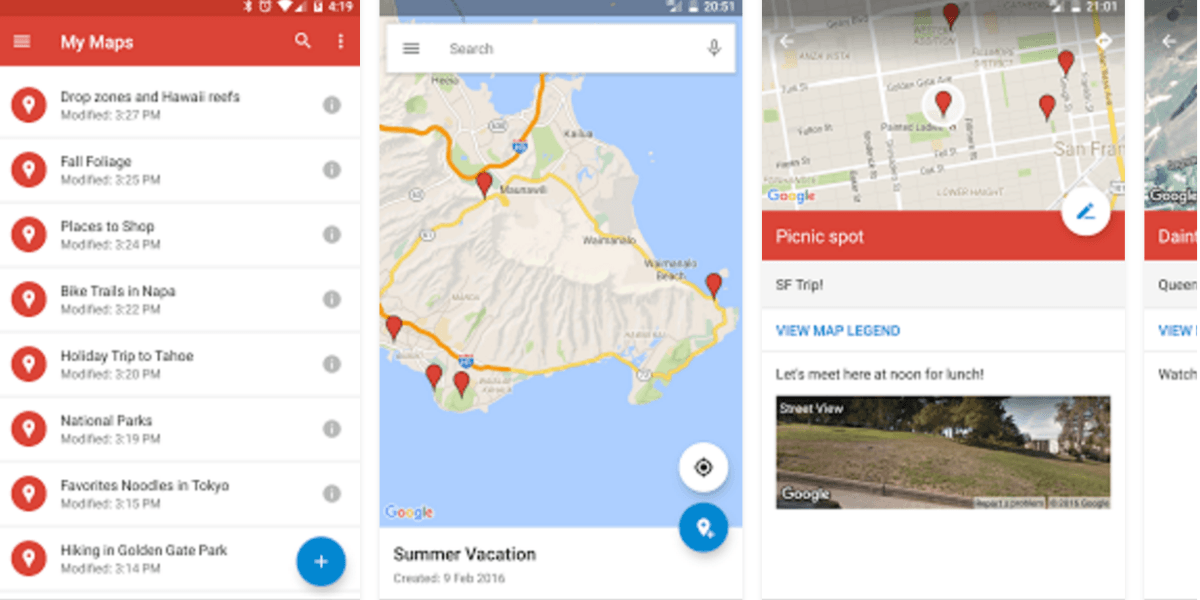 Google updated its My Maps app for the first time since 2014 on google earth update 2014, google maps updated 2012, google maps street view, google search, google sky,
