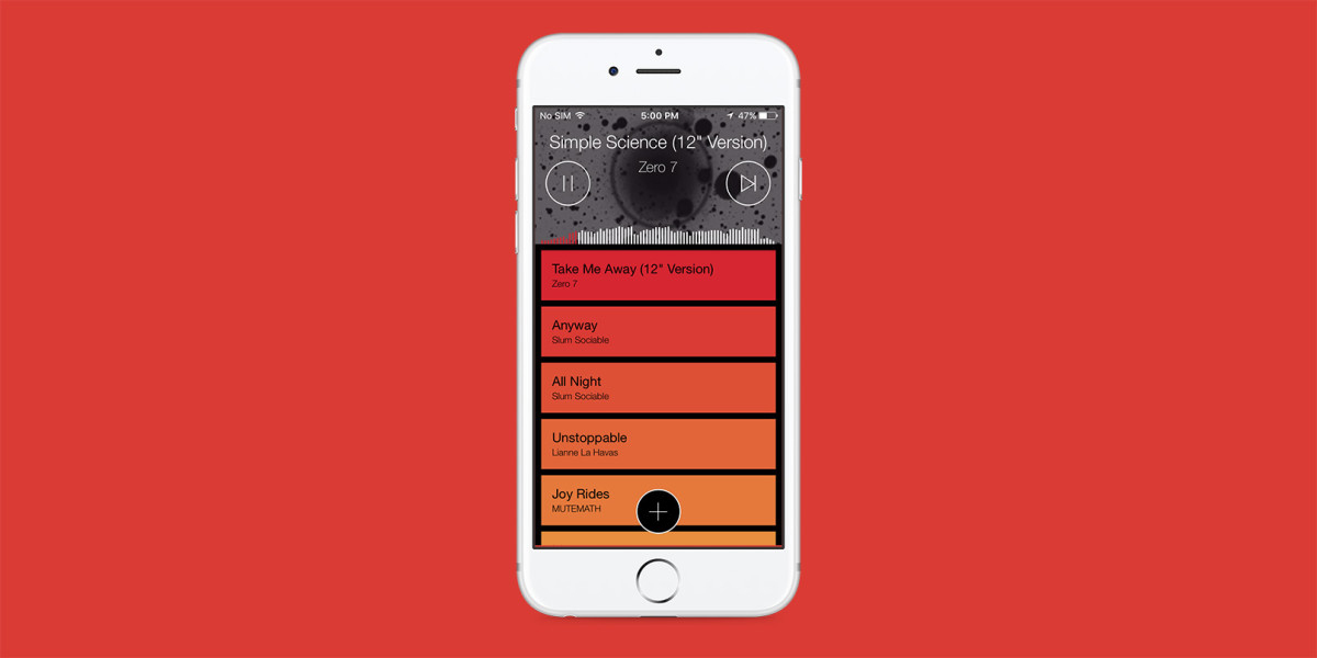 Pyro for iOS uses your favorite tunes to DJ your parties