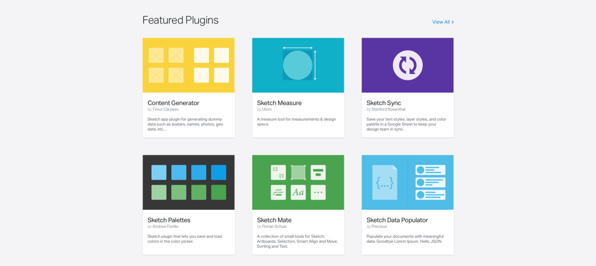 Sketch now has a dedicated extension page for designers and developers