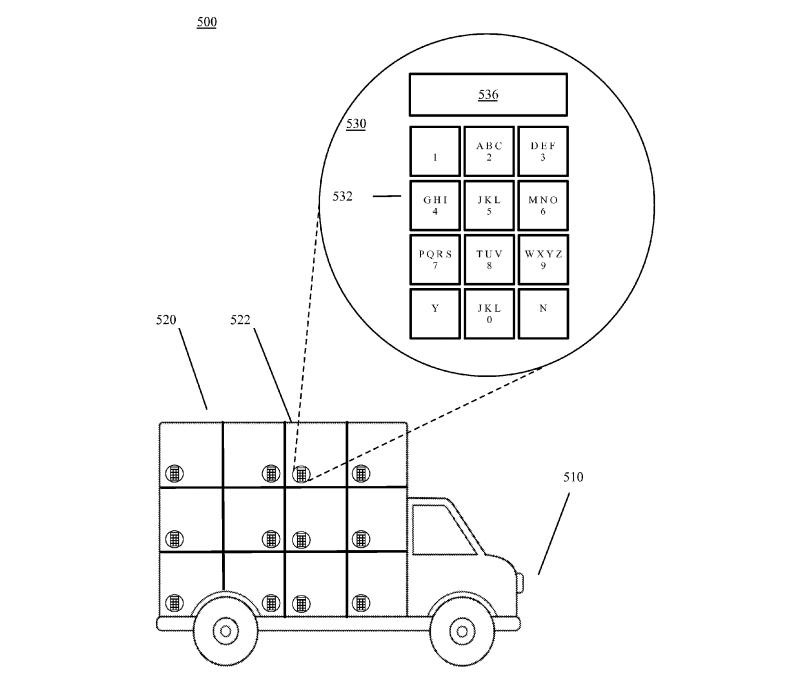 Google patent autonomous delivery van