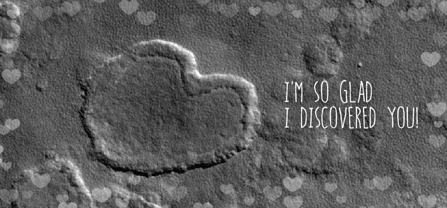 Nothing says 'I love you' like a Valentine's e-card from space