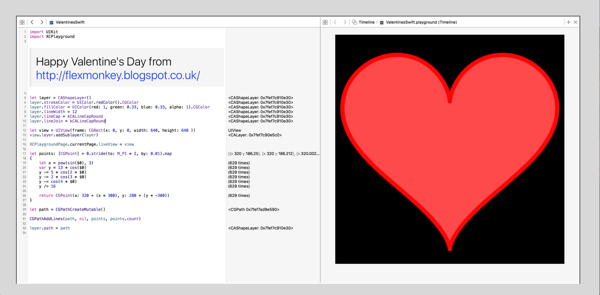 Alone this Valentines Day? Fall in love with Swift using this Playground!