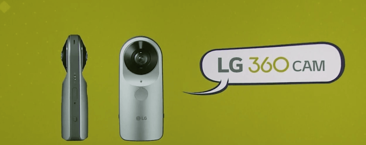 LG 360 Cam is a 360-degree camera that captures every direction with a single snap