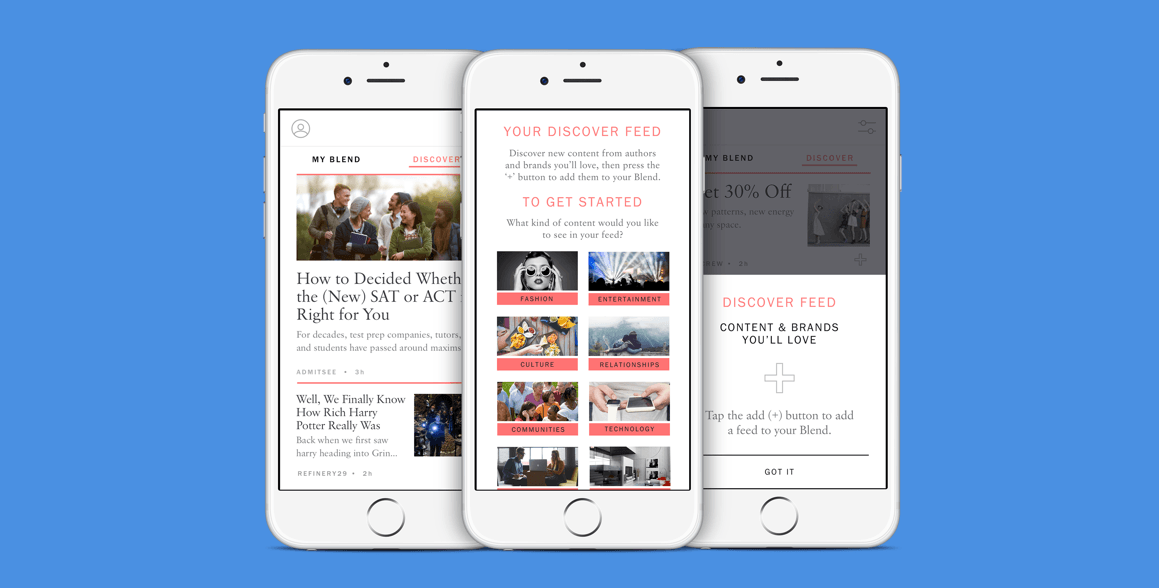 My Blend sorts your email newsletters and turns them into a sleek magazine