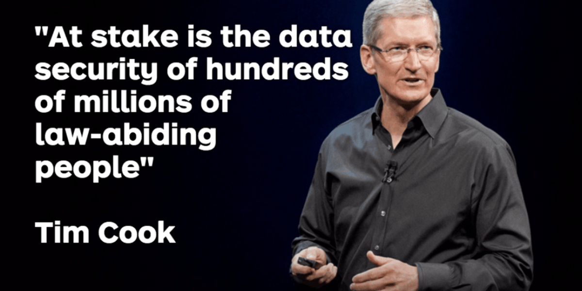 Tim Cook says FBI's unlock request 'threatens everyone's civil liberties'