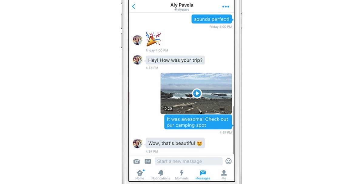 Forget GIFs — Twitter adds support for capturing and sharing video in Direct Messages