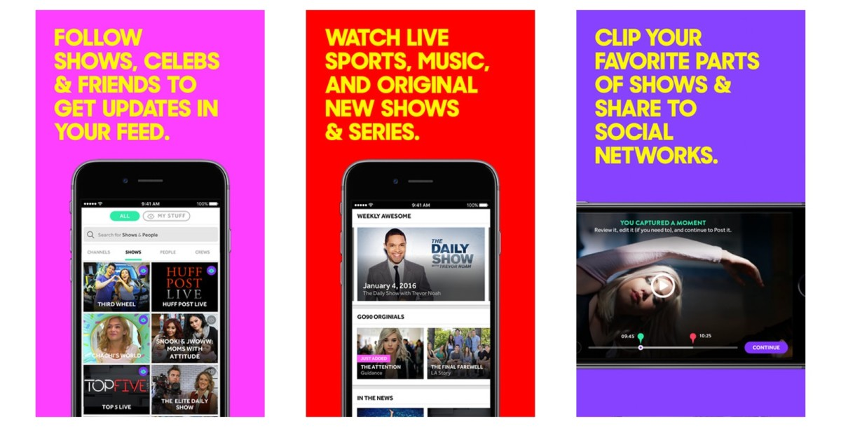 Verizon follows T-Mobile's lead and makes its go90 video app free to stream