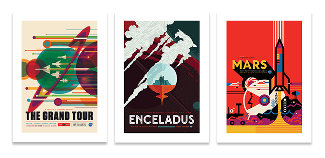 NASA promotes space tourism in retro new posters