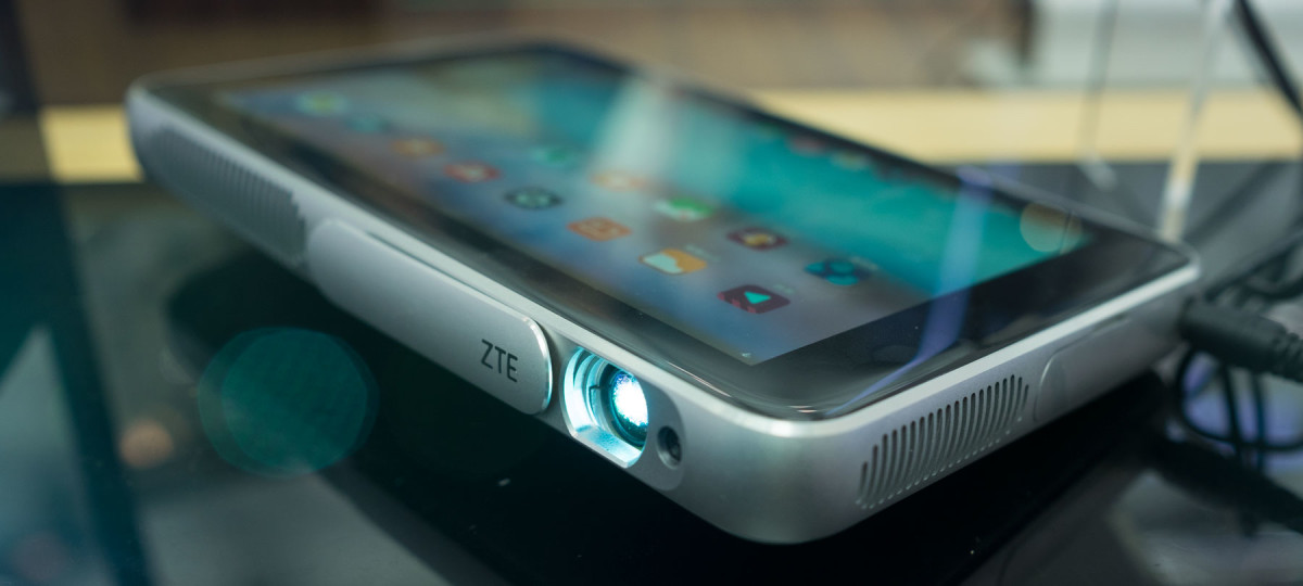 ZTE stuck a tablet on the back of a projector for no apparent reason