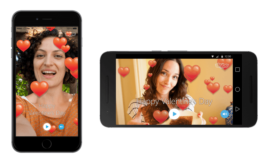 You can now make Valentine's Day videos in Skype