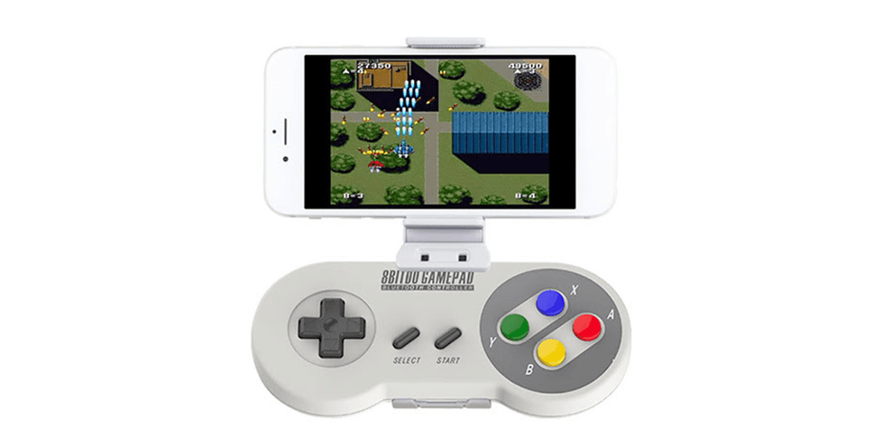 Classic SNES controller returns with an upgrade: The Bluetooth SNES30 & smartphone holder