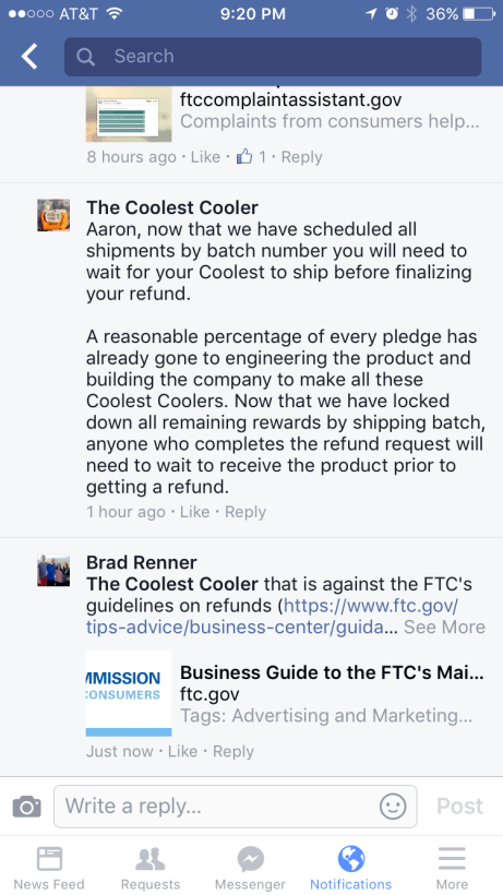 Coolest Cooler is flat broke and looking for an investor, but backers are pissed off