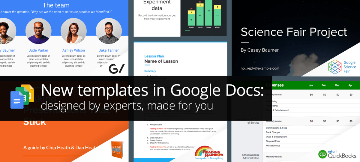 Google Introduces Docs Templates Designed By Experts - Google docs google docs