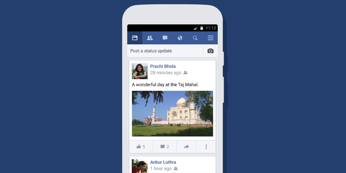 Facebook lite for android adds support for video and emoji facebooks lite app now lets android users watch video even on slow connections stopboris Gallery