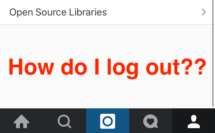 You're not alone: Instagram for iOS has somehow ditched the log out button
