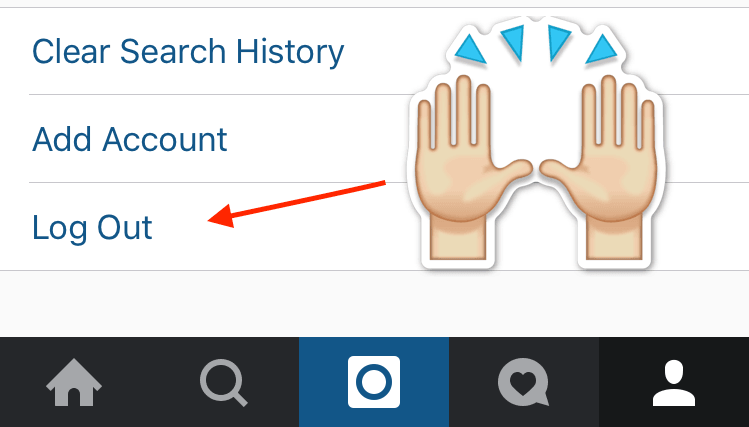 Instagram's newest update for iOS gives you your damn log out button back
