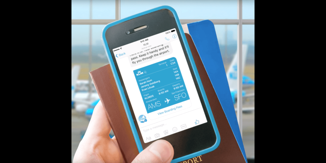Facebook Messenger now lets you check-in to KLM flights