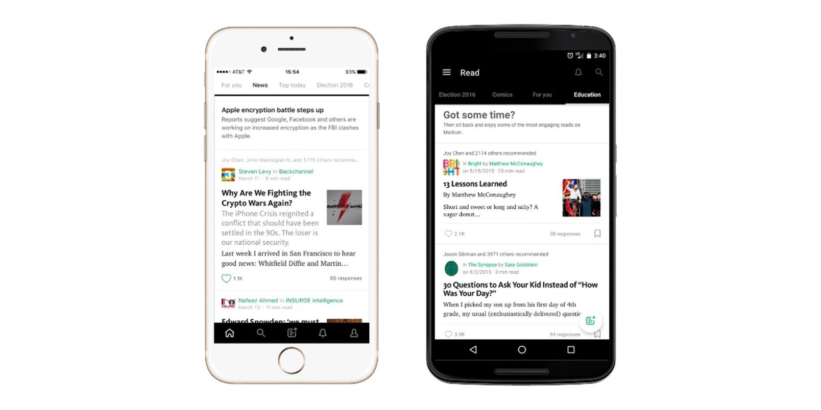Medium is now curating popular articles