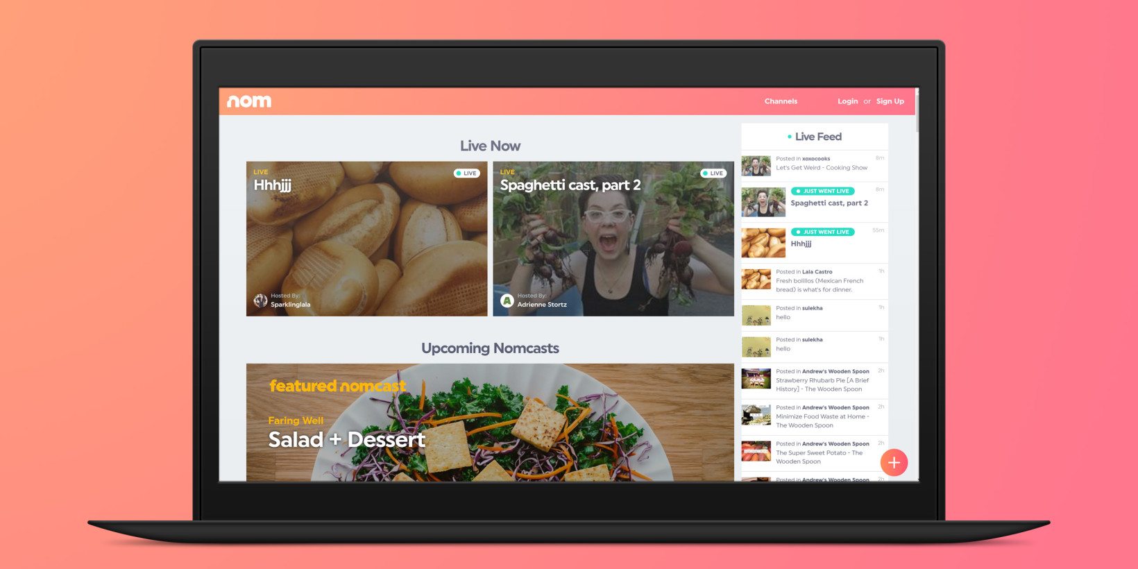Nom is a livestreaming platform for foodies