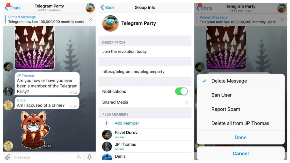 Telegram supergroups are about to get a lot noisier