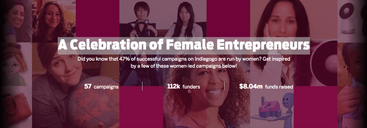 Indiegogo's new diversity initiative champions female entrepreneurs