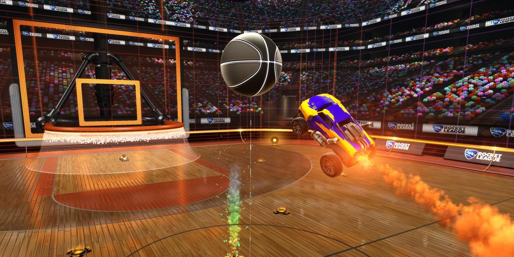 Swap goals for hoops with Rocket League's new basketball mode