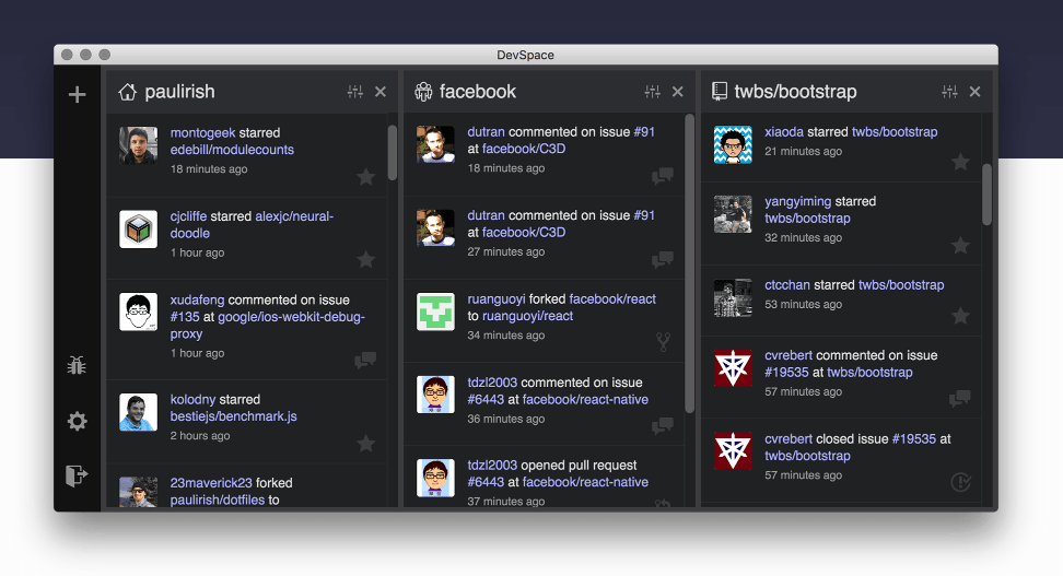 DevSpace makes GitHub look more like Twitter, and that's a good thing