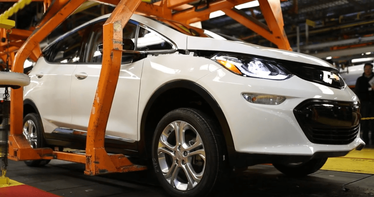 Chevy Bolt has entered pre-production on the assembly line ahead of Tesla's Model 3 debut