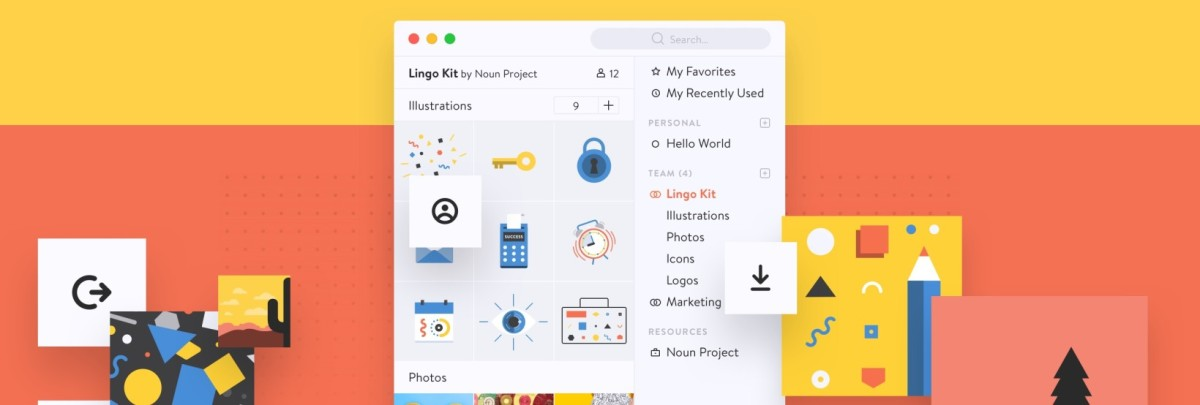 The Noun Project's Lingo app aims to help designers organize their mess of files