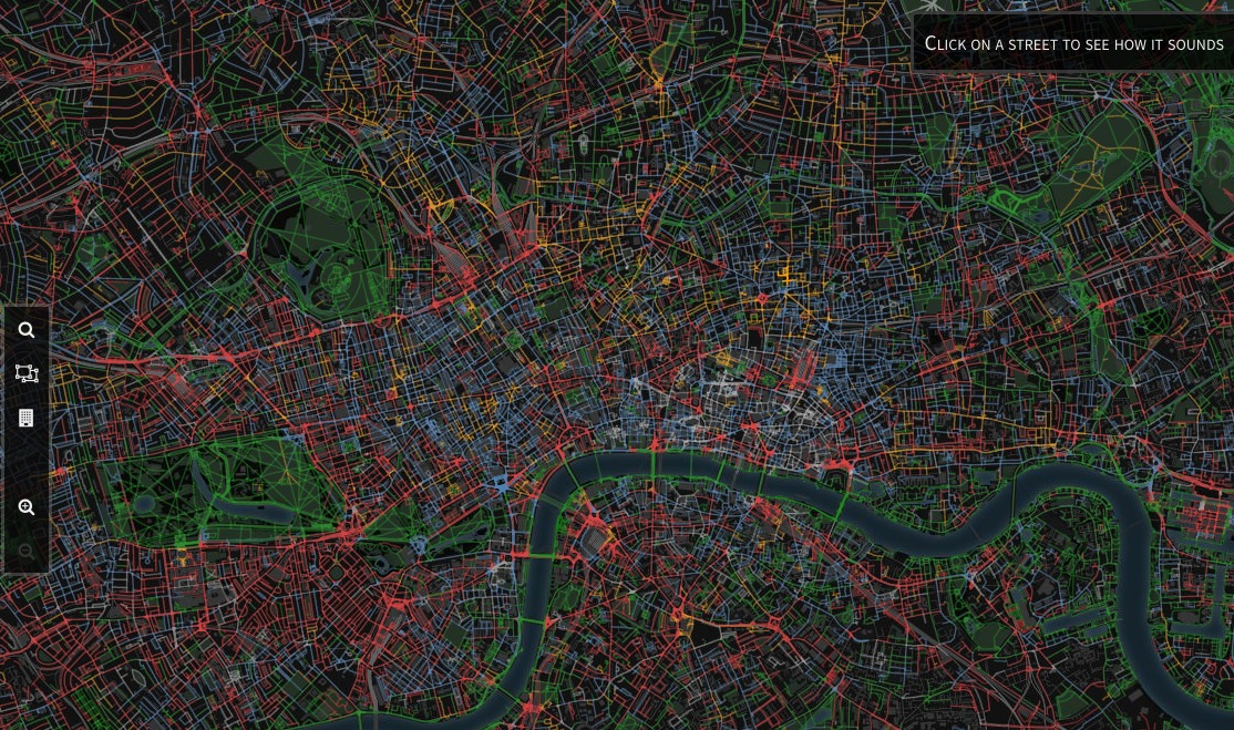 These online maps let you find the quietest spots in big cities
