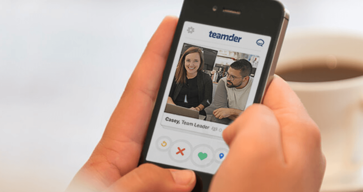 Teamder is like Tinder -- for teams