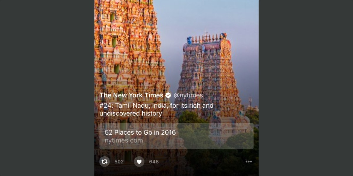 Twitter Moments now has embedded links that support AMP mobile pages