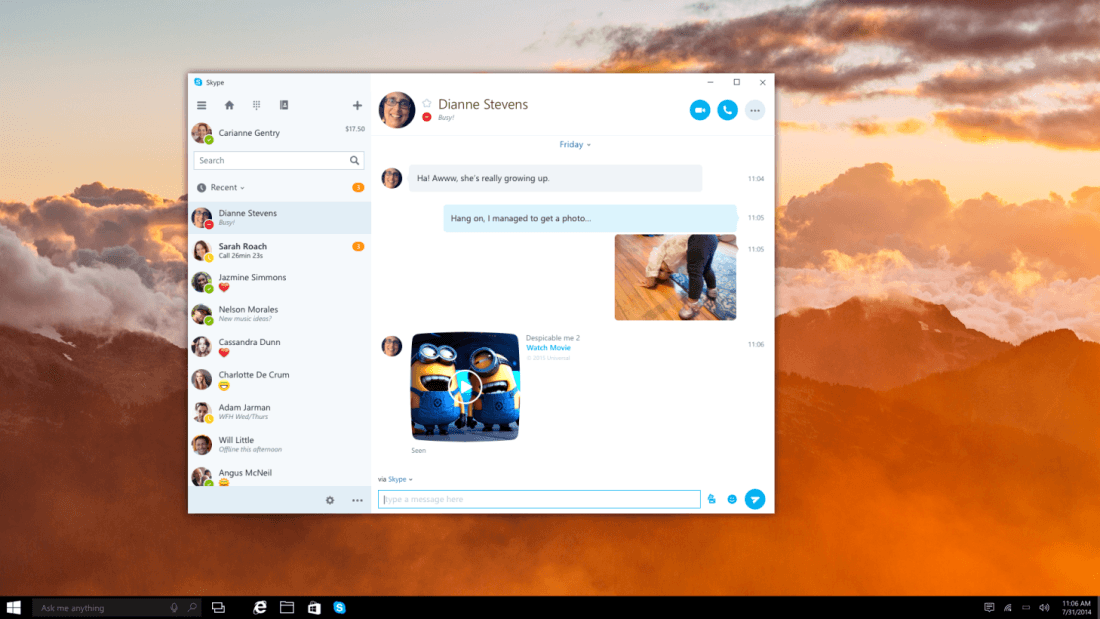 Skype is completely overhauling its Windows app so it works on all devices